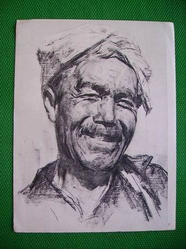 人物素描(7)-陕北老农民