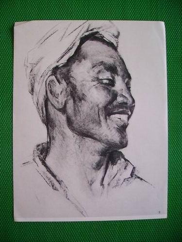人物素描(8)-陕北农民