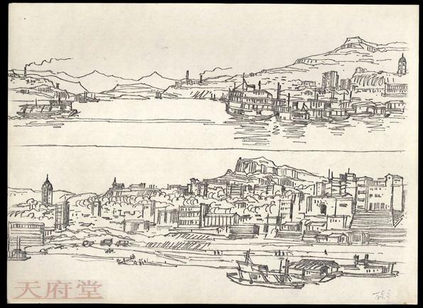 重庆铅笔画