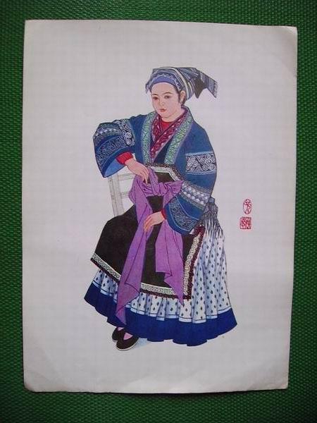 清族服装手绘画
