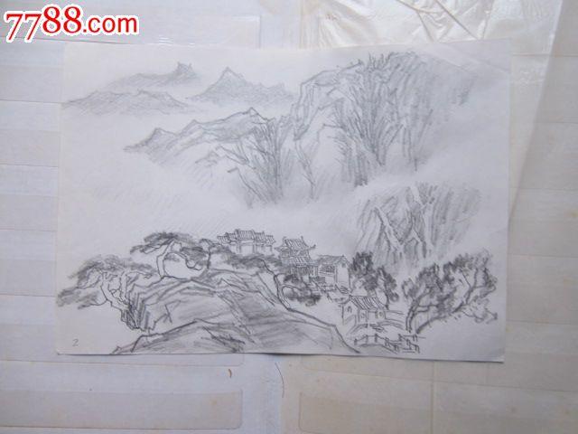 怎么画山水铅笔画步骤