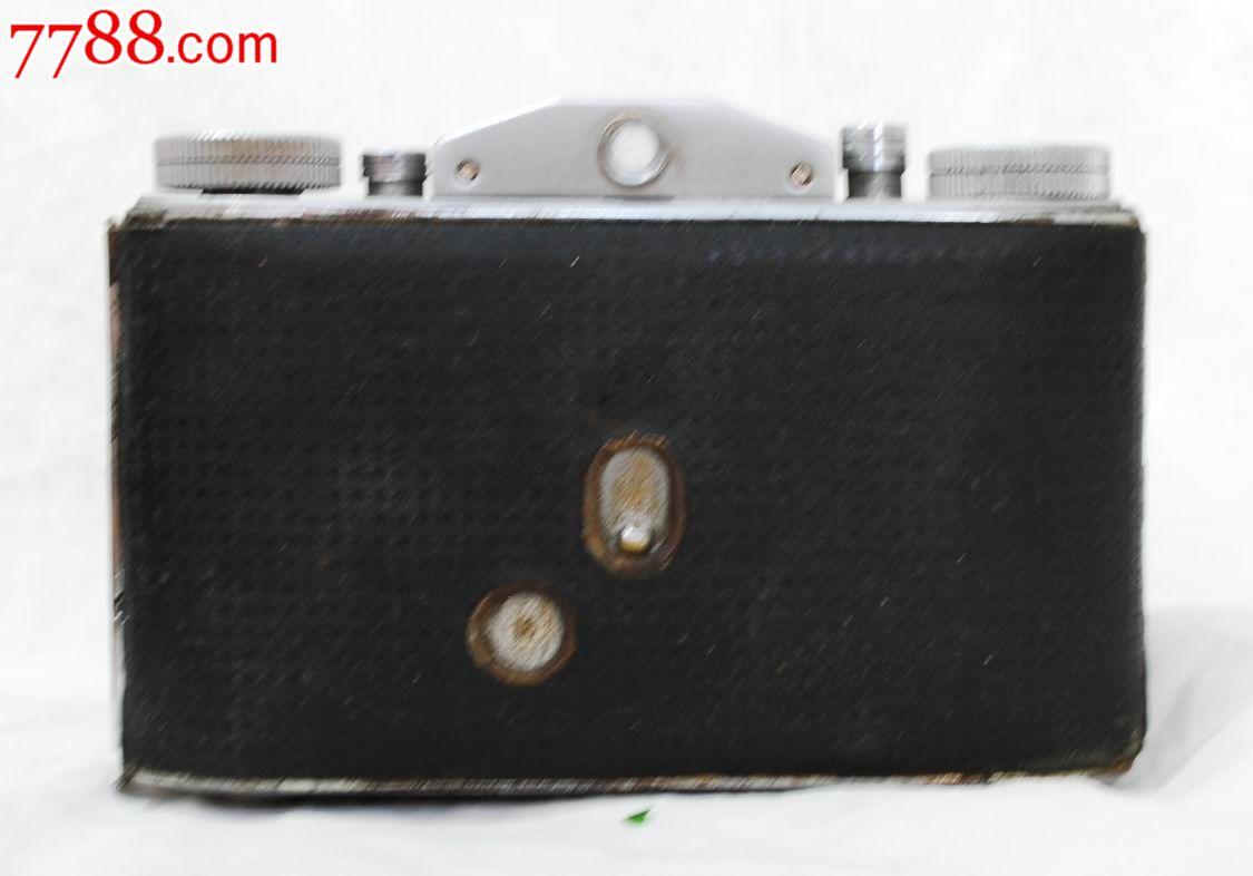 少见花皮上海201试制折叠相机