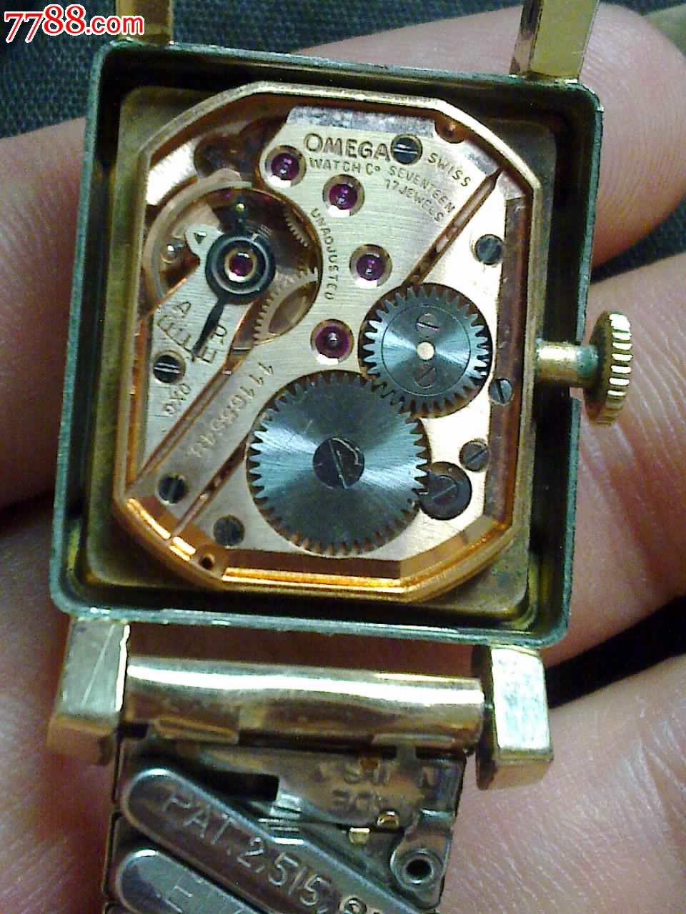 欧米茄古董手表,14k包金,好品图片