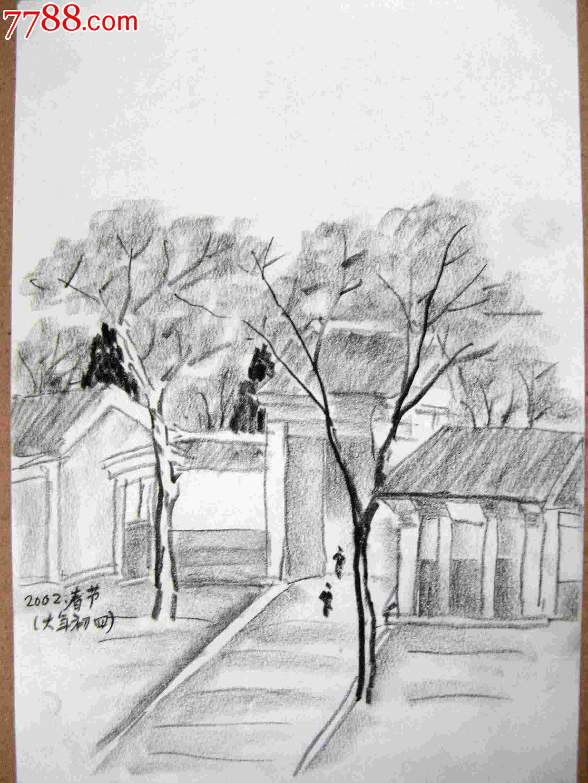 简单手绘可爱铅笔画风景