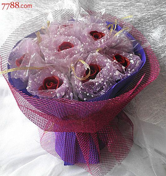 独一无二新款纯手工制作面塑手捧玫瑰花束可永久保存生日七夕情人节