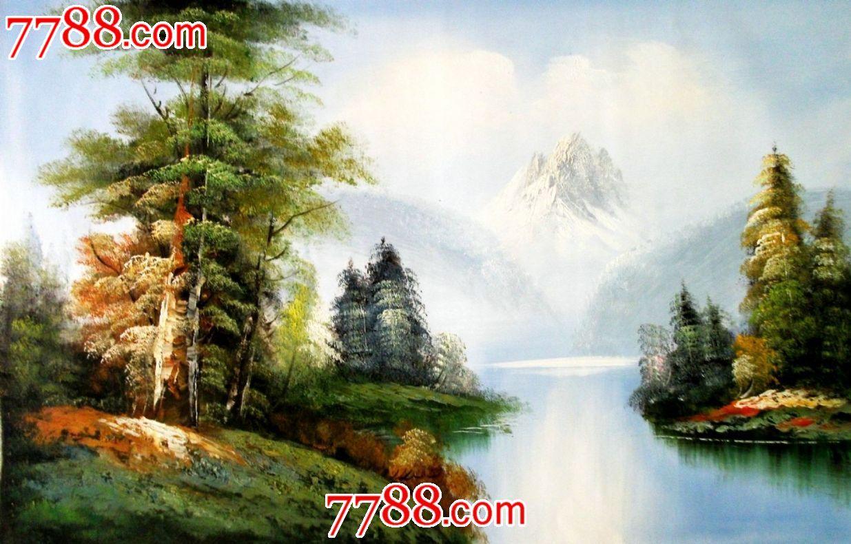 60*90风景油画