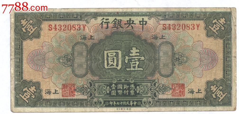 中央银行1元--上海(au6885033)_