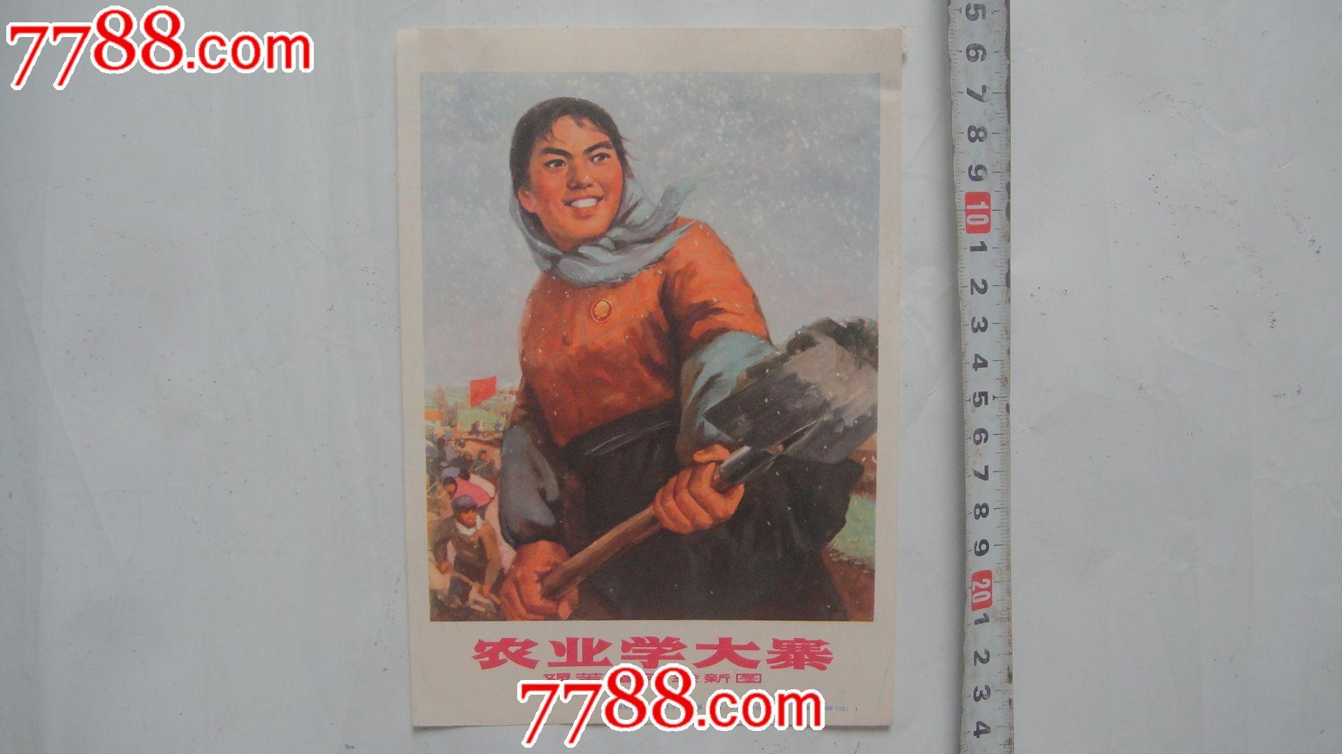 早期小画片(农业学大寨,艰苦奋斗绘新图)如东县工农兵