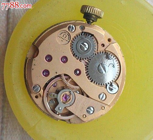 库存欧米茄625机芯--原装玫瑰金机芯金表把--原装盘--图片