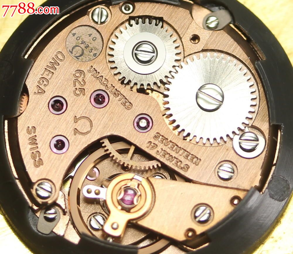 欧米茄,omega,男士镀金手动机械手表.带原装盒子,625,图片