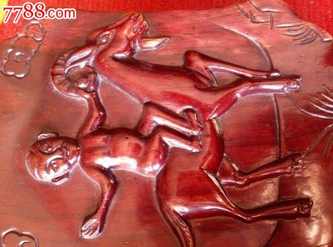 木雕----骑羊的小孩_价格70元_第2张