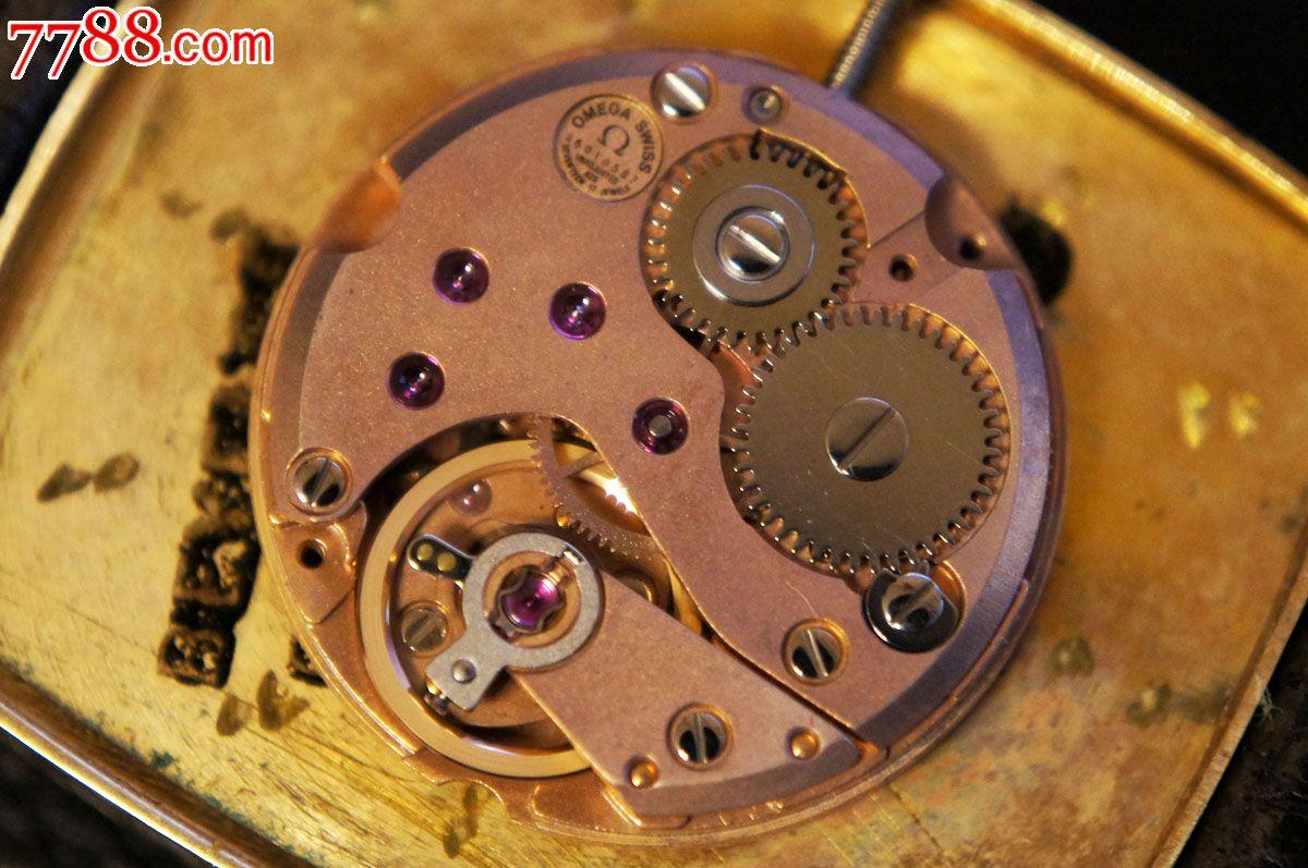 欧米茄omega14k实金男士手动机械手表625机芯-手表/--图片