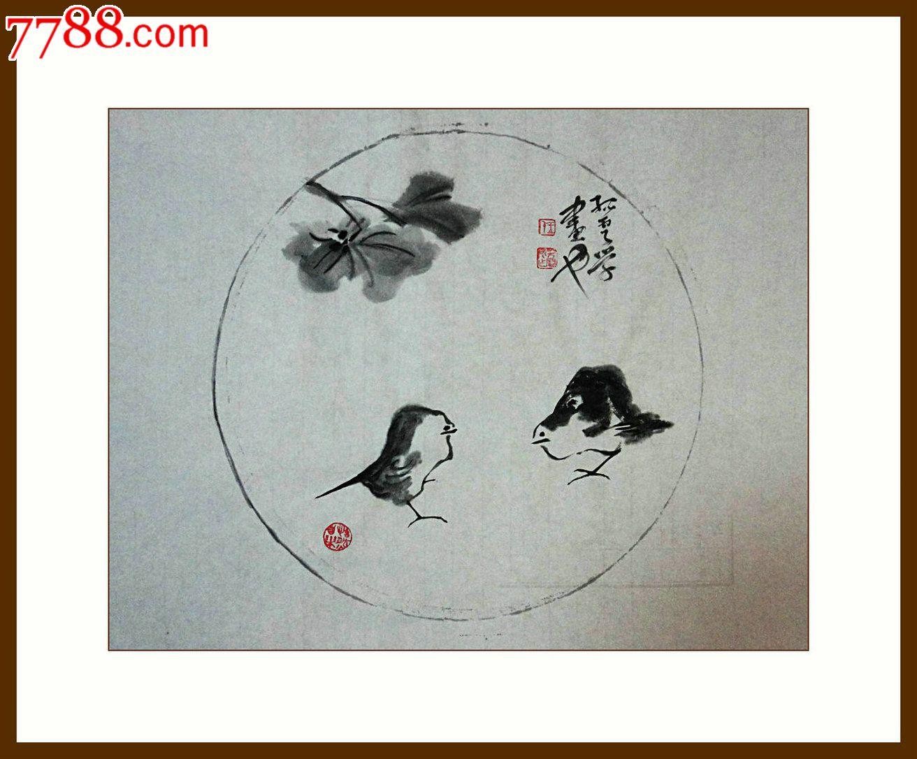 8 品种: 花鸟国画原作-花鸟国画原作 属性: 花卉画原画,,水墨/写意