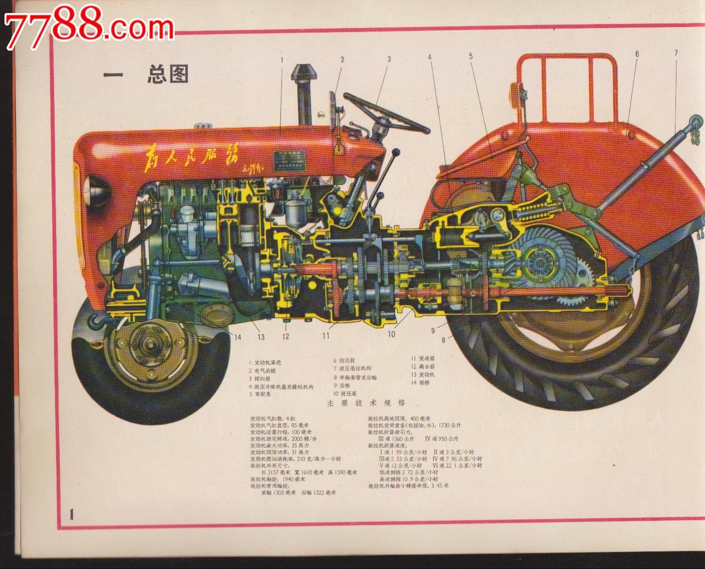 35水田型拖拉机结构图册【内有多幅