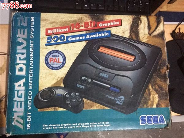 sega世嘉md2游戏机,带8盘游戏卡