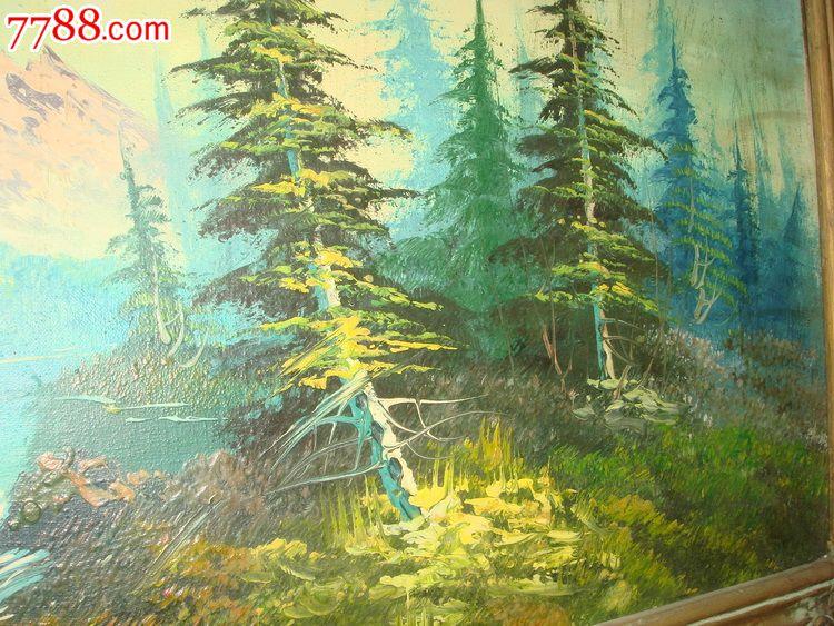 早期老油画----济南美术工厂风景画