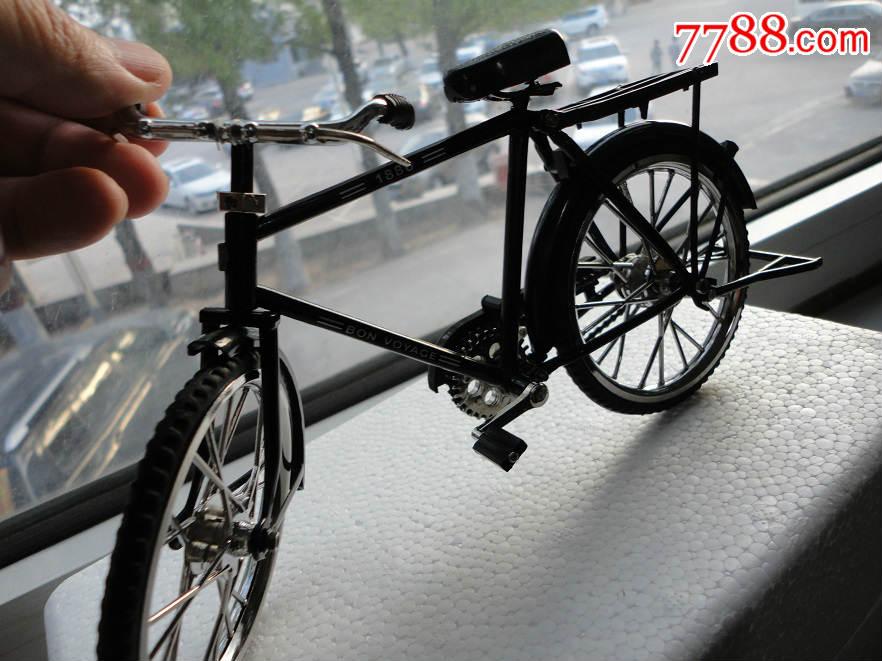 少见,经典回忆,老式28大杠脚踏车自行车1:8全部钢架结构,和真车一样
