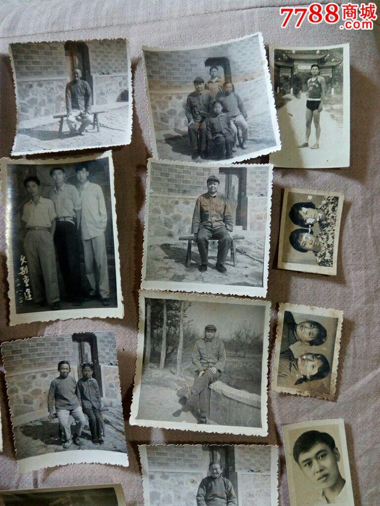 (当涂一中初三乙班56年初中毕业合影照)等老照初中海安城南图片