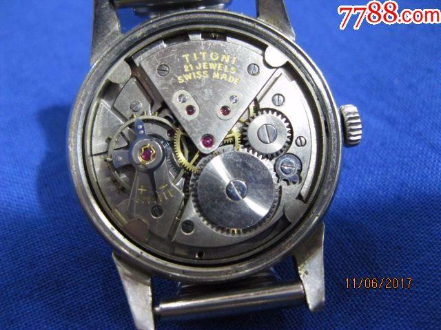 瑞士梅花手表-----漂亮的梅花手表,带日历的梅花老手表.图片