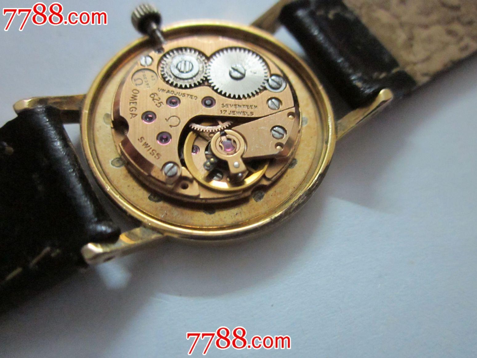 包金欧米茄女装机械手表!机芯型号:625!-au5946059-__图片