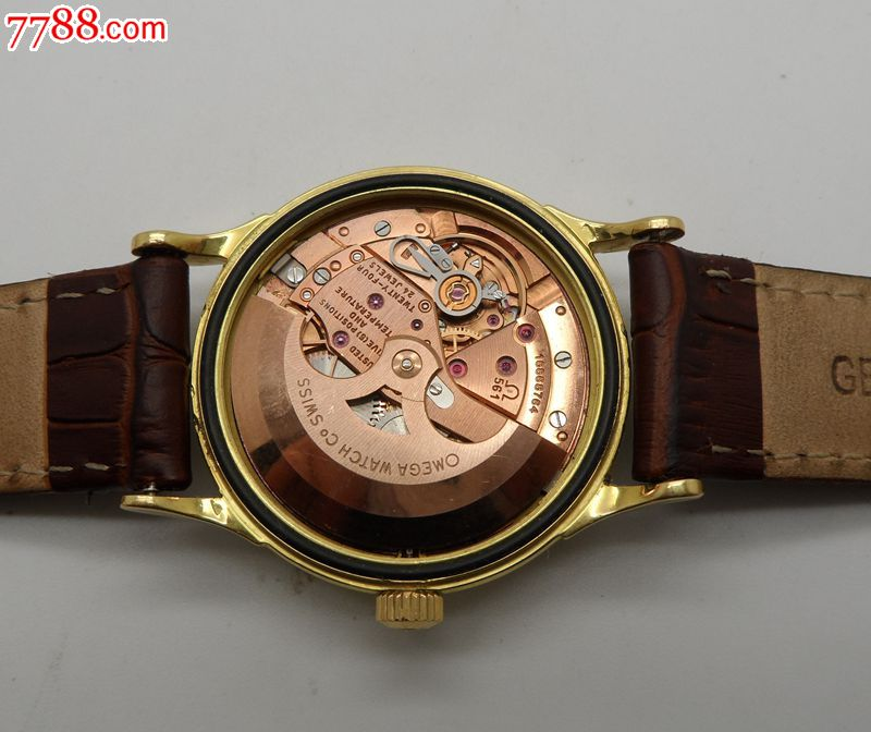 瑞士产欧米茄18k金壳全自动星座561古董手表图片