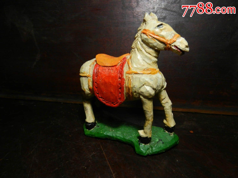 木头/根雕类/马造型/立体动物雕刻,摆件