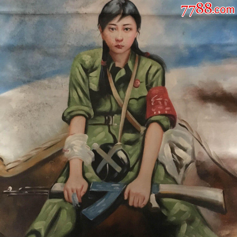 抗日战争v油画油画美女游戏美女动心图片