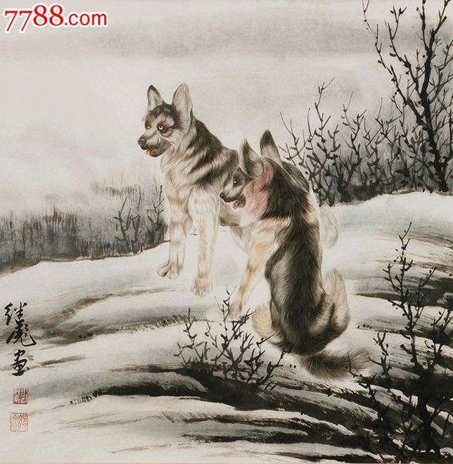 """中国美协会员,工笔动物画名家""""""""刘继彪""""""""精品动物画"""