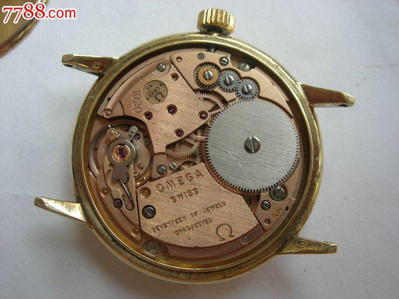 80年代  14k黄金实金  瑞士  欧米茄  男式手表图片