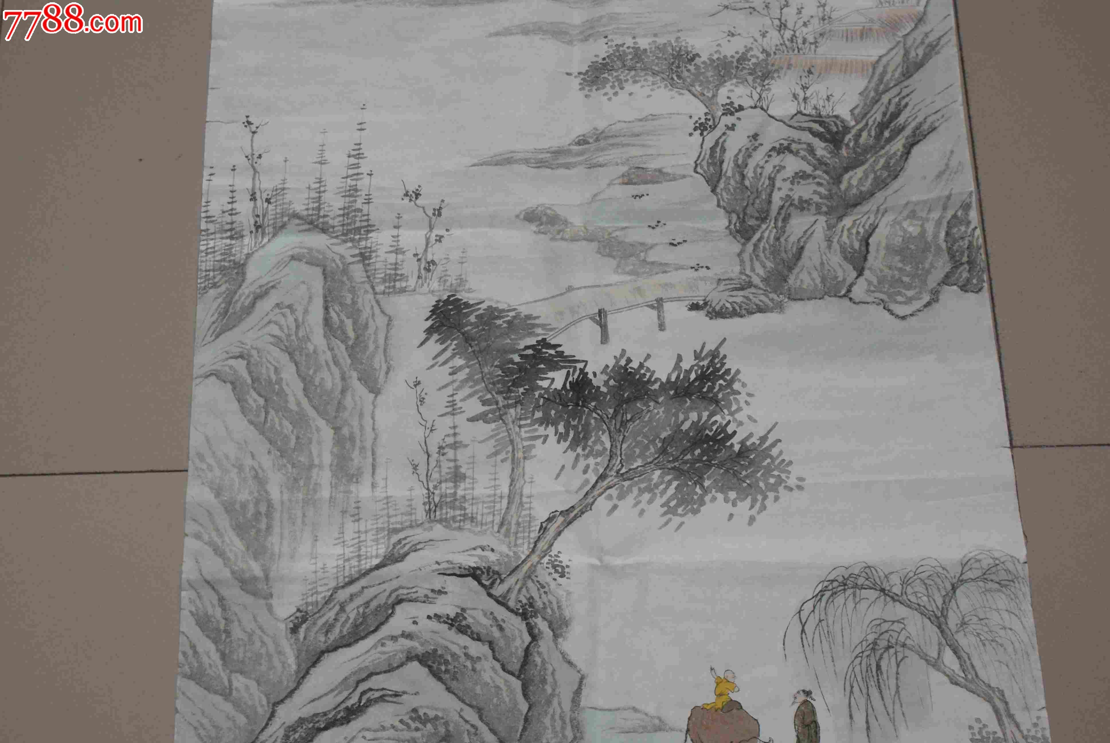 朱梅村_著名画家朱梅村的山水