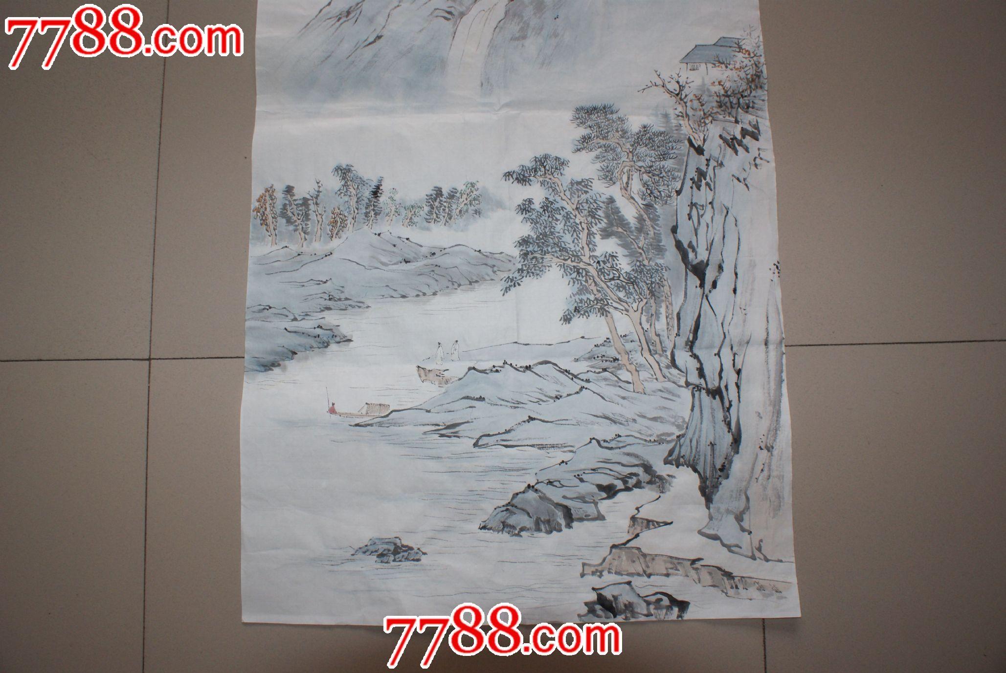 著名国画大师张大千的山水画