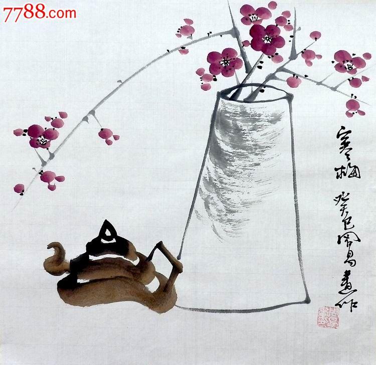 国画小品_水墨国画花鸟小品-梅花
