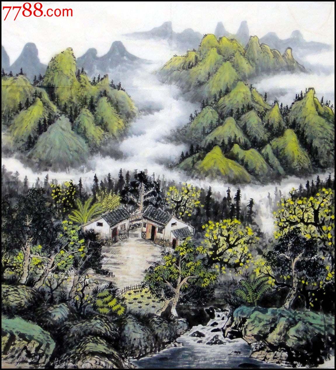 刘海东六尺斗方山水画图片