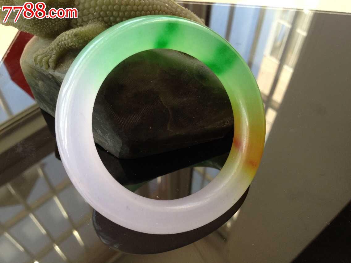 缅甸玻璃种飘花翡翠手镯_价格99元_第2张